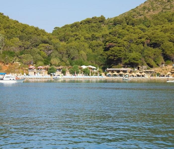 Sunj beach Lopud sailing