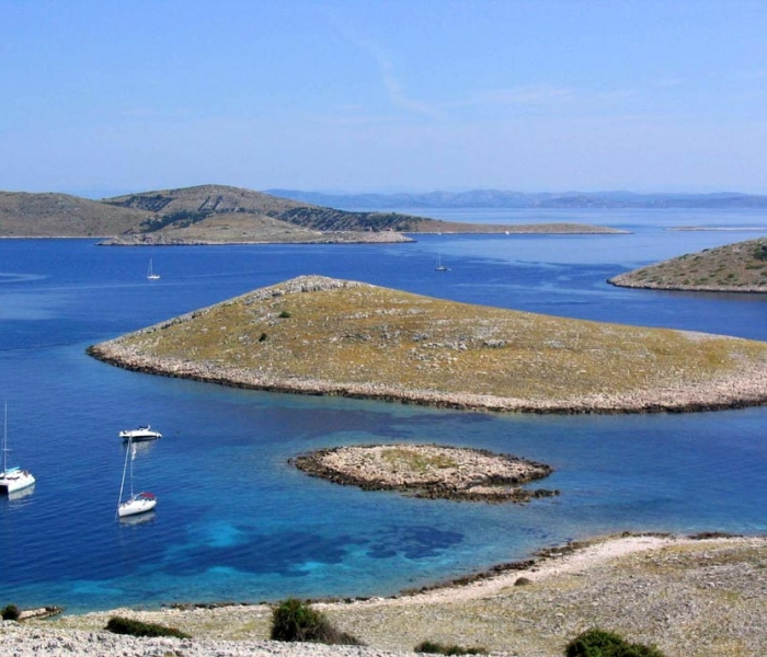 Kornati islets and yachts