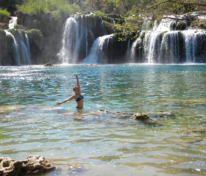krka waterfalls swimming